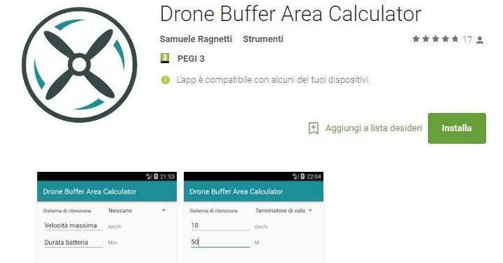 Drone Buffer Area Calculator